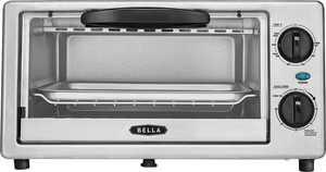 Bella - 4-Slice Toaster Oven - Black/silver