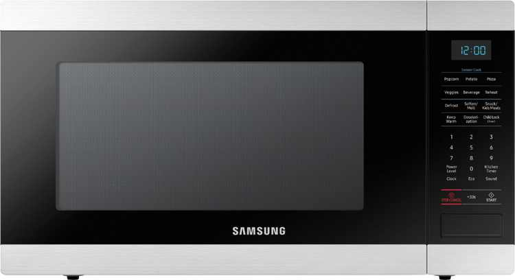 Samsung - 1.9 Cu. Ft. Countertop Microwave with Sensor Cook - Stainless steel