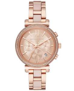 Women's Chronograph Sofie Rose Gold-Tone Stainless Steel & Blush Acetate Bracelet Watch 39mm