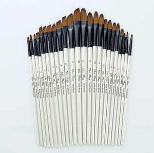 Jpgif 12pc Artist Watercolor Painting Brushes Brush Oil Acrylic Flat Tip Paint Kit