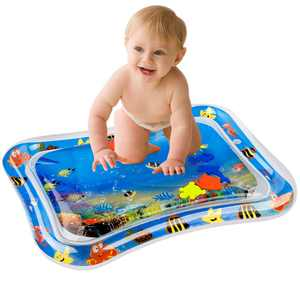 Romacci Inflatable Baby Water Mat Infant Tummy Time Playmat Toddler Fun Activity Play Center