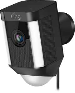 Ring - Spotlight Cam Wired (Plug-In)- Black - Black