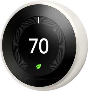 Google - Nest Learning Smart Wifi Thermostat - White