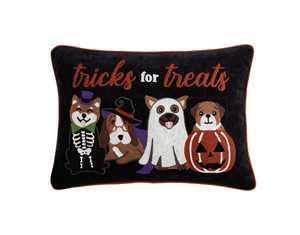 Mainstays, Tricks for Treats Decorative Pillow, Oblong, 14 x 20, Black, 1 Piece