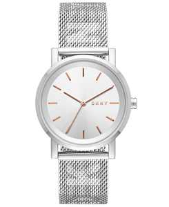 Women's SoHo Stainless Steel Mesh Bracelet Watch 34mm, Created for Macy's