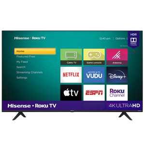 "Hisense 58"" Class 4K UHD HDR Roku Smart TV, 58R6E3"