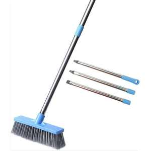 """30""""- 45"""" Floor Scrub Brush with Long Handle Adjustable Tub and Tile Brush for Cleaning Bathroom, Patio, Kitchen, Wall and Deck"""