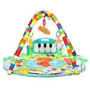 Newborn Play Mat, Journey of Discovery Activity Gym and Play Mat, Baby Musical Piano Music Mat, Play Blanket with Various Pendants, Kids Activity Carpet Rug