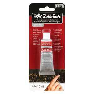 Amaco Rub 'n Buff Metallic Finishes Silver Leaf 1/2 oz. Tube