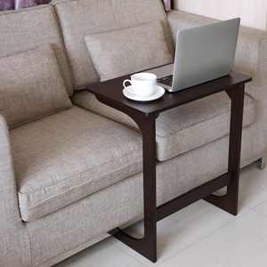 Ktaxon Bamboo Sofa Side Table Computer Standing Couch Coffee Snack End Table Bed Side Table Notebook Tablet