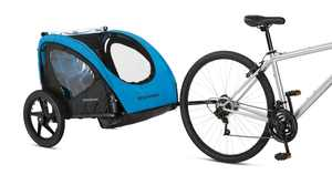 Schwinn Shuttle foldable bike trailer, 2 passengers, blue / black