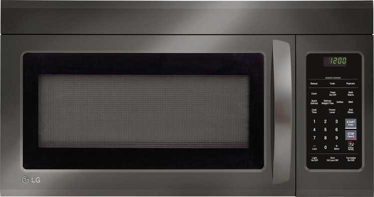 LG - 1.8 Cu. Ft. Over-the-Range Microwave with Sensor Cooking - PrintProof Black Stainless Steel