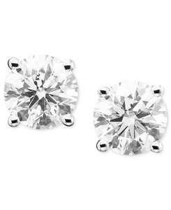 Diamond Stud Earrings in 14k Gold or White Gold
