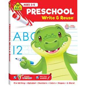 Write & Reuse: School Zone Preschool Write & Reuse Workbook (Paperback)