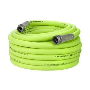 "Flexzilla Garden Hose, 3/4"" x 75', 3/4"" - 11 1/2 GHT Fittings, Flexible Hybrid Polymer, ZillaGreen"