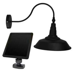 Sunforce Solar Barn Light Fully adjustable lamp head Amorphous solar panel, Fully Weather Resistant. Easy Installation