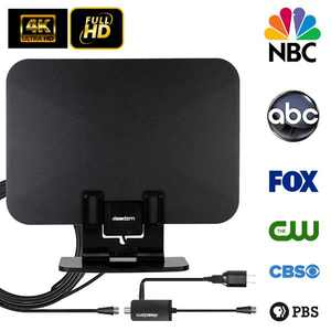 Leadzm 90 Miles Long Range TV Antenna Freeview Local Channels Indoor HDTV Digital Clear Television HDMI Antenna for 4K VHF UHF with Ampliflier Signal Booster Strongest Reception 13ft Coax Cable