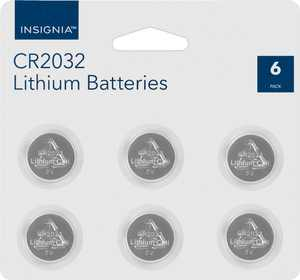 Insignia - CR2032 Batteries (6-Pack)