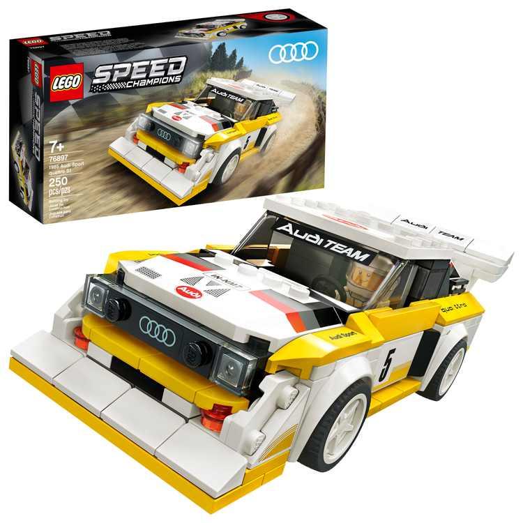 LEGO Speed Champions 1985 Audi Sport quattro S1 76897 Toy Car Building Kit (250 Pieces)