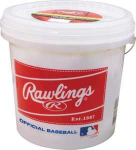 Rawlings Bucket of 8U Official League OLB3/R8U Baseballs (24 Pack)