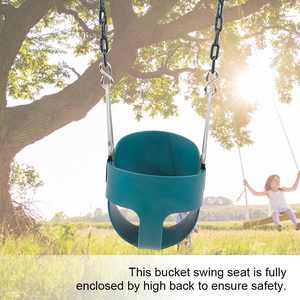 EECOO Game Swing,Fully Assembled High Back Full Bucket Toddler Game Swing Seat Green Home Swing
