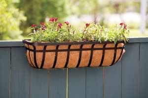 Living Accents  Steel  Deck Planter  Black