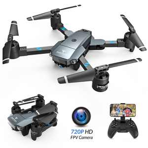 SNAPTAIN A15H Foldable 720P HD Camera Drone with Live Video 120 Wide-Angle WiFi Quadcopter ,Trajectory Flight/Altitude Hold/Headless Mode/3D Flip/One Key Return for Beginners