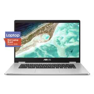 "ASUS Chromebook C523 Laptop - 15.6"" HD NanoEdge Display with 180 Degree Hinge, Intel Dual Core Celeron N3350 Processor, 4GB RAM, 32GB eMMC Storage, Chrome OS, C523NA-DH02"