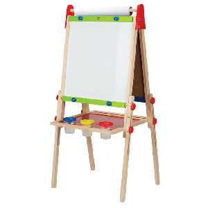 Hape Magnetic All in 1 Kids Drawing Painting Chalk Art Board Wooden Artist Easel