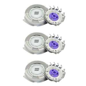 3Pcs Replacement Shaver Heads Compatible with Philips Norelco Razor HQ8 Dual