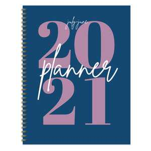 """July 2020 - June 2021 Big Blue Year Large 8.5""""x11"""" Daily Weekly Monthly Planner"""