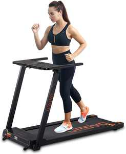 UREVO 2.5HP Folding Treadmill, Workout Running Jogging Machine, Portable Compact with 12 Pre-Set Programs and Wide Belt