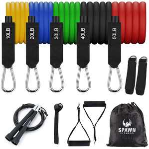 Spawn Fitness Resistance Bands Set of 11 Workout Exercise Band For Home