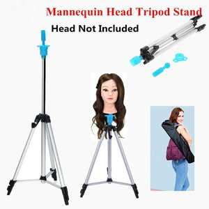HERCHR 55inch Adjustable Tripod Stand Salon Hair Cosmetology Mannequin Training Head Hold 55in, Training Head Hold, Wig Tripod Stand