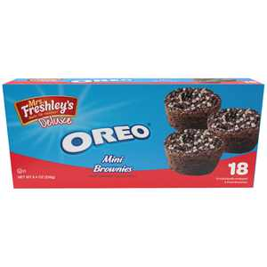 Mrs. Freshley's Deluxe Oreo Mini Brownies 18 ct Box