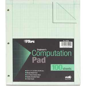 TOPS Engineering Computation Pad, 100 Sheets