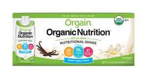 Orgain Orgainic Nutritional Shake, Sweet Vanilla Bean, 11 Oz