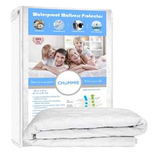 Chummie Deluxe Extra Absorbent Waterproof Mattress Sheet Protector 34 x 36, 6 Cup Urine Absorption, Machine Washable and Dryer Friendly.