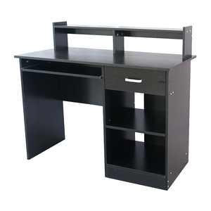 Ktaxon Wood Computer Desk Office Black Laptop PC Work Table Home Drawer & Keyboard Tray