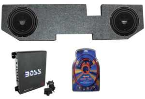 2) ROCKFORD R2D2-10 10 Inch Subwoofers + Dodge Ram 02-15 Box + Mono Amp + Wiring
