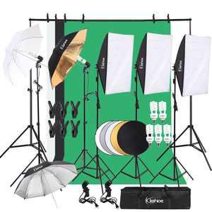 UBesGoo Photography Video Photo Studio Lighting Kits Adjustable 5500K Umbrella Softbox