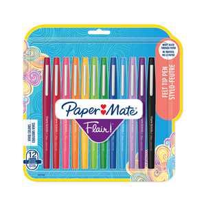 Paper Mate Flair Felt Tip Pen Set, 0.7mm, 12-Colors