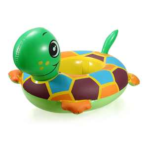 PVC Turtle Swimming Ring Seat Baby Water Swimming Inflatable Swimming Pool Raft Chair Seat Float Ring Toys Outdoor Water Funny Game Play