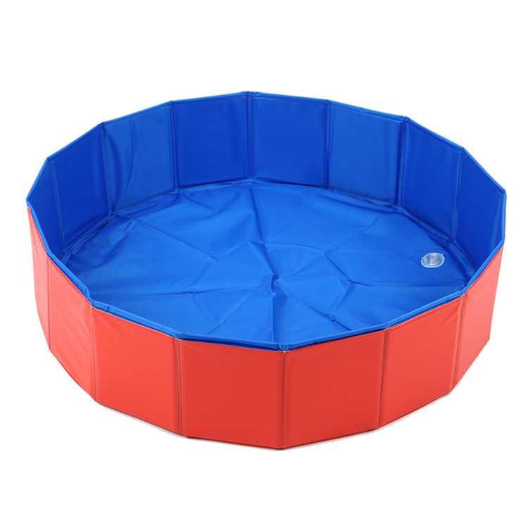 80 * 20CM Foldable Dog Paddling Pool Pet Puppy Swimming Bathing Tub