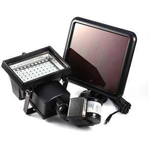 2pcs Solar Powered Motion Sensor Light,60 LED Solar Security Light Flood Lamp for Garden Patio Path Pool Lighting