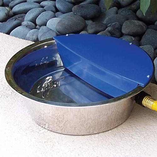 "RPI Sir Aqua II Automatic Float Waterer, 1.8 Gallon, Silver/Blue, 13.5"" x 13.5"" x 4.5"""