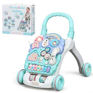 Gymax Baby Sit-to-Stand Learning Walker Toddler Activity Center Musical Toy w/ Lights