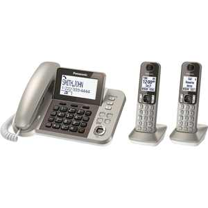 Panasonic KX-TGF352N Corded / Cordless System with Answering Machine and One Touch Call Blocking - 2 Handets