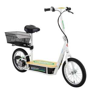 Razor EcoSmart Metro Electric Econimical Green Scooter with Seat and Rack
