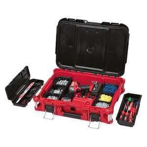 "Milwaukee 48-22-8424 - PACKOUT Plastic Tool Box (22""W x 16""D x 7""H)"